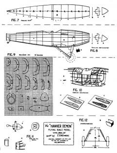 Hawker Demon 28in model airplane plan
