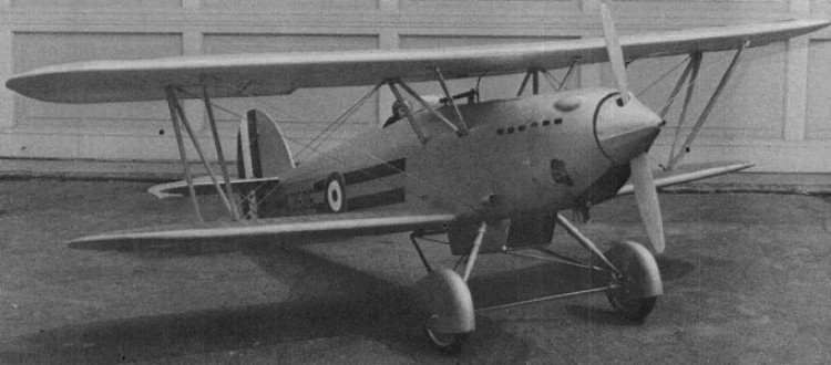 Hawker Fury MK2 model airplane plan