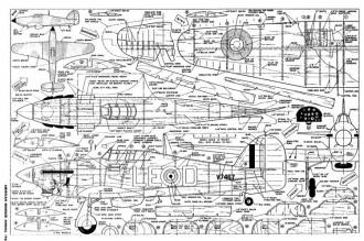 Hawker Hurricane 29-40 model airplane plan