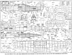 Hawker Hurricane 40in model airplane plan