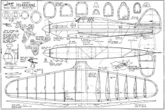Hawker Hurricane astral model airplane plan