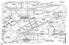 Hawker Tempest 2 model airplane plan