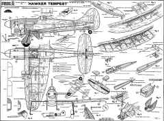 Hawker Tempest Frog CL model airplane plan