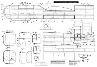 """Heinkel He 177 """"Greif"""" model airplane plan"""