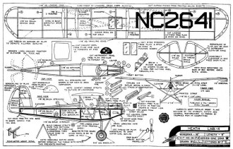 Heath LNB-4 16in model airplane plan