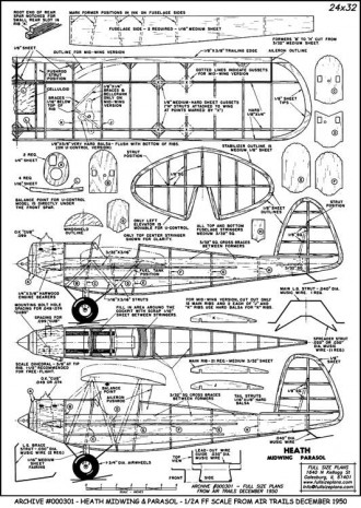 HeathMidwing model airplane plan