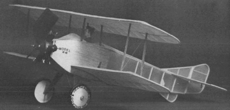 Heath 2B model airplane plan