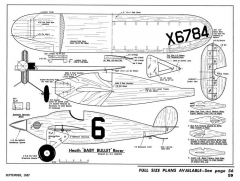 Heath Baby Bullet-AM-09-67 model airplane plan