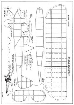 Heath Parasol model airplane plan