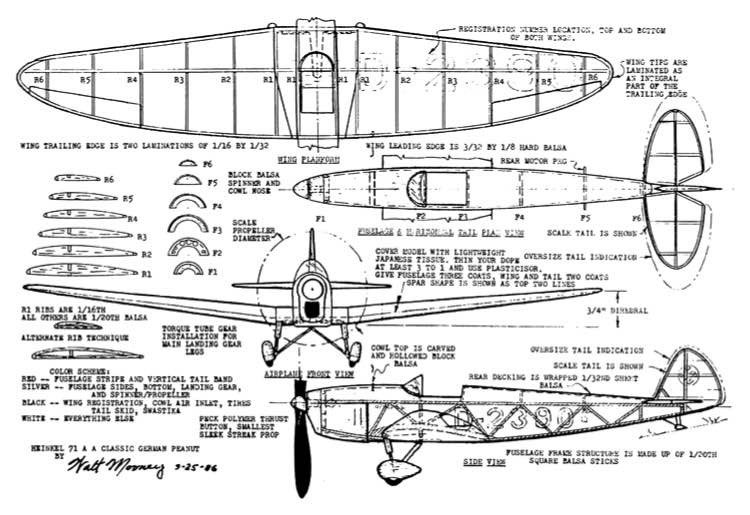 Heinkel-71-A model airplane plan