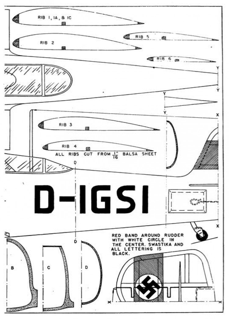 Heinkel p3 model airplane plan