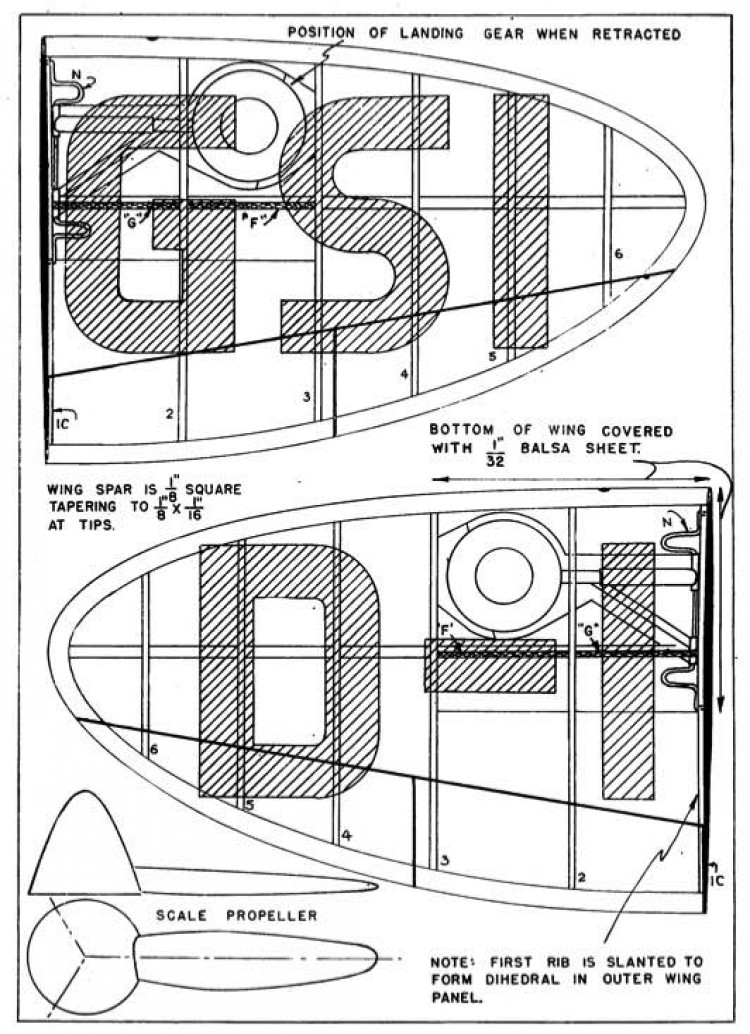 Heinkel p4 model airplane plan