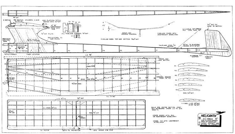 HelicanthFF model airplane plan
