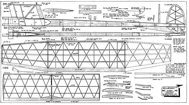 Hellbender model airplane plan