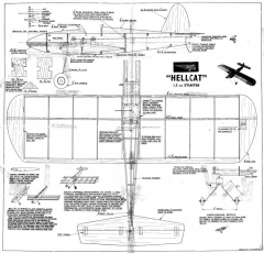 Hellcat model airplane plan