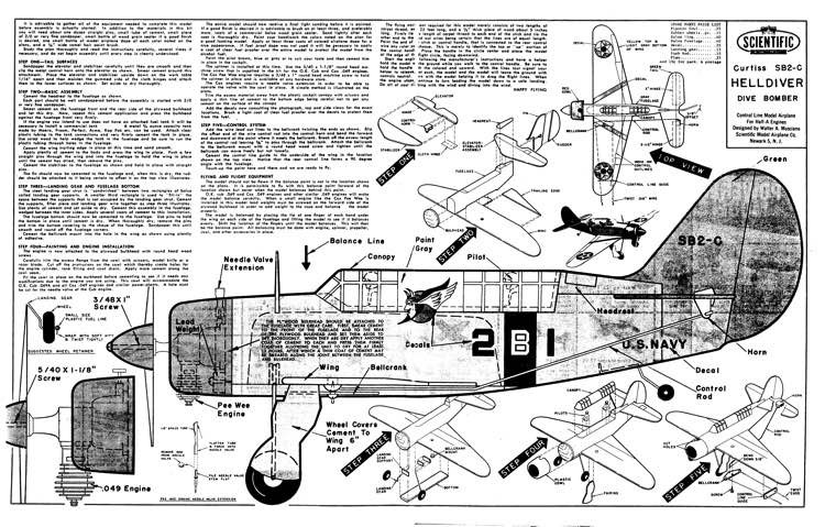 Helldiver model airplane plan