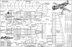 Helldiver 36in CL model airplane plan