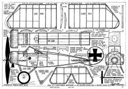 Hergt Monoplane 13in model airplane plan