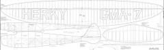 Herky Mel Yates 1937 108in model airplane plan