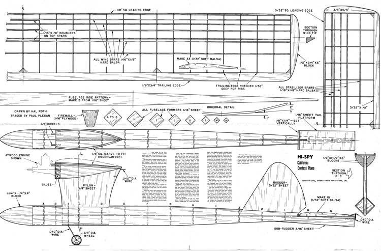 Hi Spy model airplane plan