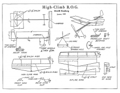 High-Climb ROG model airplane plan