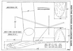 High-Time model airplane plan