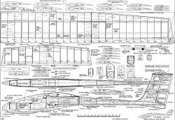 Hightailer Glider 100in model airplane plan