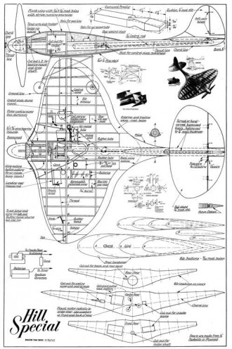 Hill Special model airplane plan