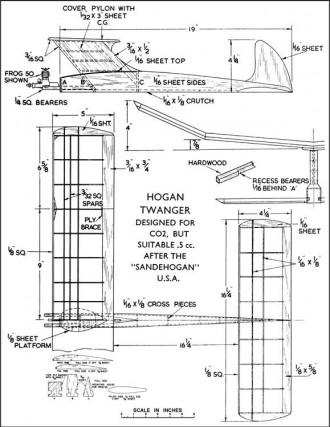 Hogan Twanger. model airplane plan