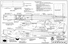 Honker 36in model airplane plan