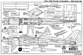 Honker Rocket-RCM-04-81 832 model airplane plan