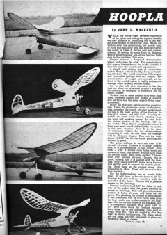 Hoopla 1948 model airplane plan