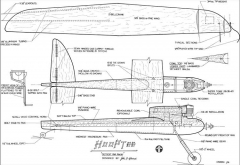 Hooptee CL Racer model airplane plan