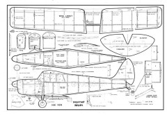 Hornet Moth model airplane plan