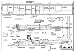 Hornet-RCM-10-77 model airplane plan