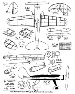 Hornet 17in model airplane plan