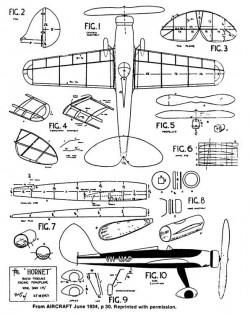 Hornet 17in model airplane plan