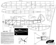 Hornet 25in model airplane plan