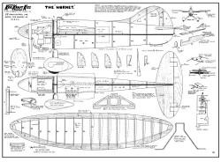 Hornet KK 28in model airplane plan