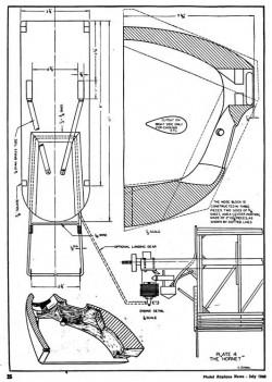 Hornet p4 model airplane plan