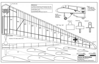 Horten 2 model airplane plan