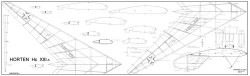Horten Hc XIIIa model airplane plan