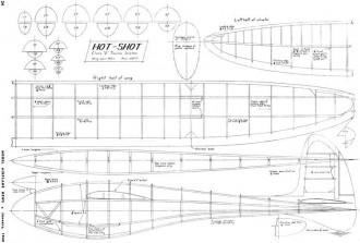 Hot-Shot 60in glider MAN 48 model airplane plan