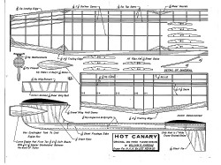 Hot Canary FF model airplane plan