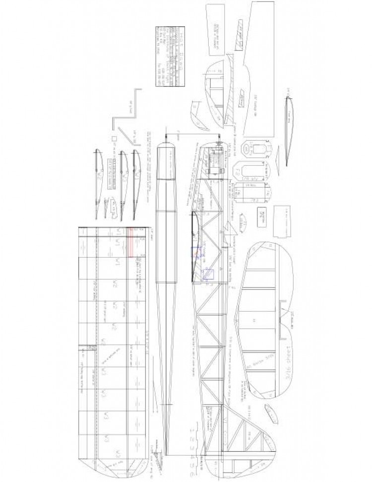 Hot Dawg Model 1 model airplane plan