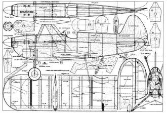 Hot Foot model airplane plan