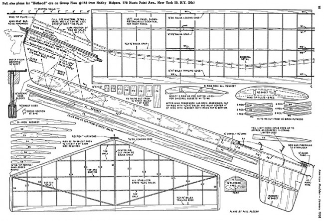 Hothead AM-01-58 model airplane plan