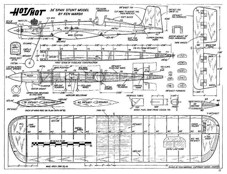 Hotshot CL model airplane plan