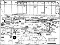 Houdini plan MAN5908 model airplane plan
