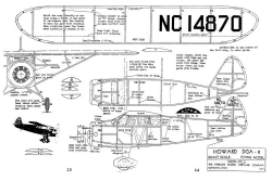 Howard DGA-8 15in model airplane plan
